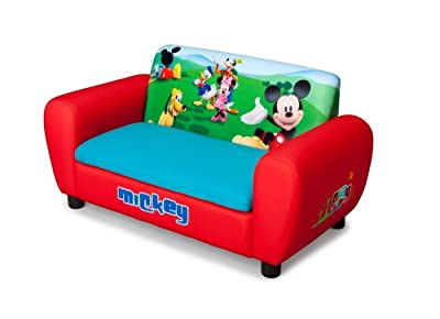 Delta Children 39 S Products Mickey Mouse Upholstered Sofa
