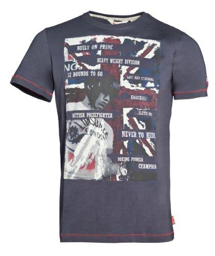 Lonsdale - T-Shirt Trägerhemd Walsall, Maglia a maniche lunghe Uomo, Blu (Marineblau), XS (Taglia Produttore: XS)