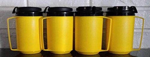 12 Oz Thermoserv Retro Classic Foam Insulated Travel Coffee Mug - Yellow