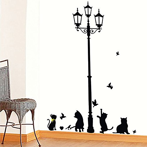 coffled-wall-decal-stickers-cats-street-lampeasy-to-apply-and-removable-huge-size-vinyl-wall-decorat