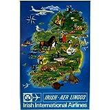 Moonlizard Aer Lingus Ireland Travel Poster 8