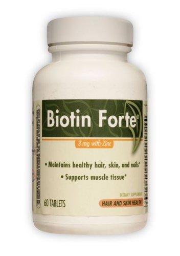 Biotin Forte 3 Mg With Zinc Enzymatic Therapy Inc. 60 Tabs