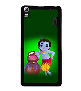 printtech Lord God Krishna Back Case Cover for Lenovo K3 Note