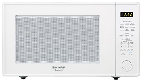 Sharp Countertop Microwave Oven ZR659YW 2.2 cu. ft. 1200W White with Sensor Cooking (Auto Microwave compare prices)