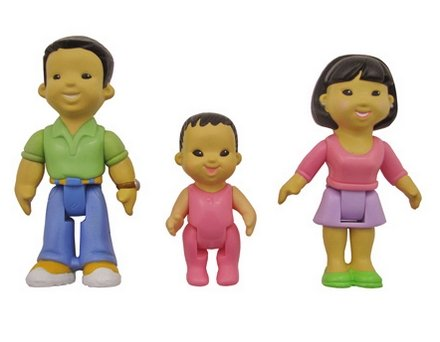 Fisher Price My First Dollhouse Figures, Mom, Dad, Baby - Asian (Fisher Price My First Family compare prices)