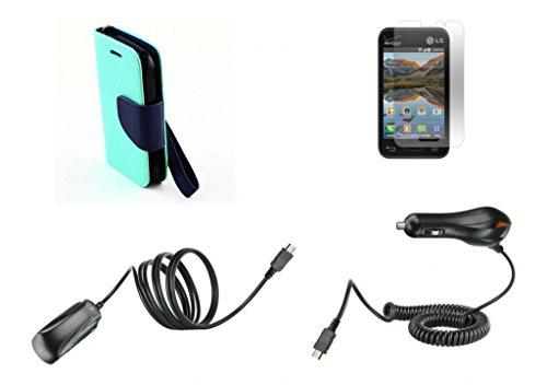 lg-optimus-fuel-l34c-straight-talk-tracfone-net-10-aqua-teal-green-dark-navy-blue-pu-leather-wallet-