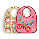 Sugar Booger Baby Waterproof Mini Bib Gift Set of 2. Flutterby Feeding Collection. ORE Originals.