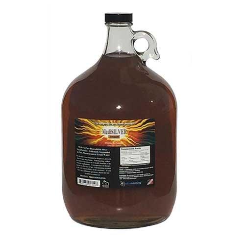 Broc en verre - 1 Gallon US - MediSILVER ambre