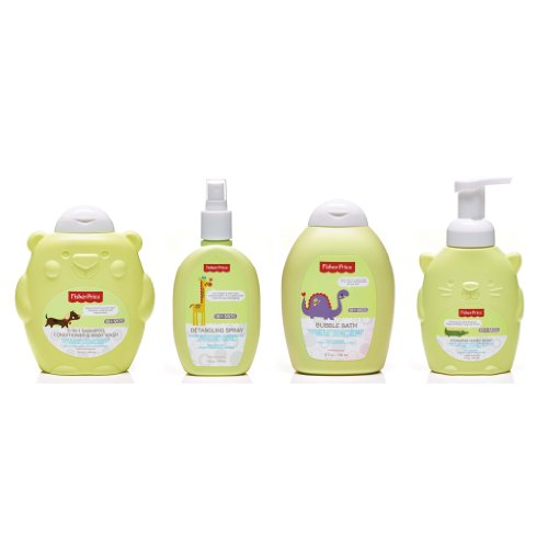 Fisher-Price Toddler Bath and Body 4 Piece Variety Gift Set - 1