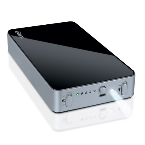 i.Sound Portable Power Max with 16,000 mAh for iPad, iPad2, iPod, iPhone, Droid, and Blackberry (Black/Silver)