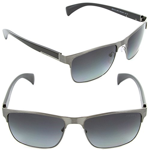 prada PRADA Sunglasses PR 51OS DHG5W1 Antique Brushed Gunmetal 58MM