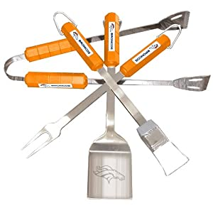 NFL Denver Broncos 4-Piece Barbecue Set by BSI