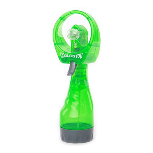 Foxnovo Handheld Battery Operated Mini Water Spray Cooling Fan Water Misting Fan (Green)