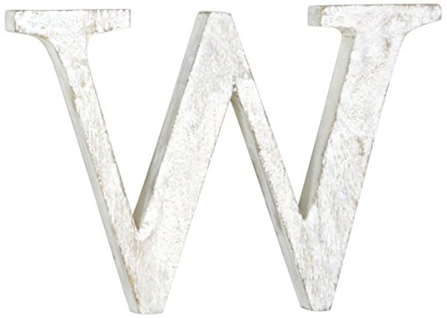 Mud Pie Wood Block Initial-W