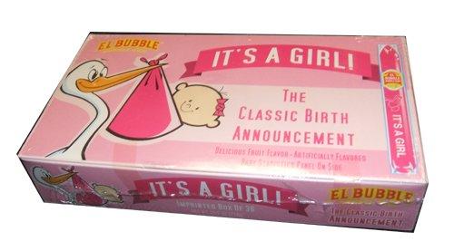 Dubble Bubble It's A Girl Bubble Gum Cigars Packages (Pack of 72)