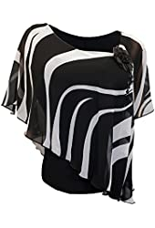 eVogues Plus size Sheer Layered Poncho Top