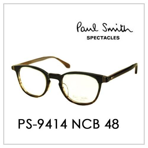 PAUL SMITH ポールスミス  メガネフレーム サングラス 伊達メガネ 眼鏡 PS-9414 NCB 48 PAUL SMITH専用ケース付 スペクタクルズ