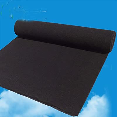 Silence-shopping 1 Pc Carbon Pre-filters Replacement ,Carbon Pad for Air Purifiers Black 1m*1m*3mm