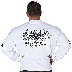 BIG SAM Sweater Sweatshirt Jacket Hoody UNCLE BODY DOG Logo *4577*
