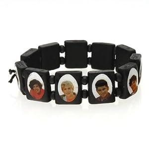 YARUIE 6pcs One Direction Wooden Stretch Tennis Bracelet Black by YiWu YaRui E-Business Co., Ltd