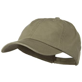 Deluxe Garment Washed Cotton Twill Cap - Dark Khaki