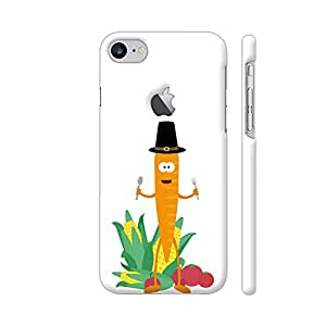 Colorpur Thanksgiving Carrot With Vegetables Artwork On Apple iPhone 7 Logo Cut Cover (Designer Mobile Back Case) | Artist: Torben
