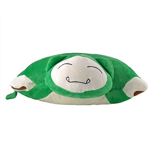 Katara-1750-Pokmon-Go-puscheliges-flojel-Cojn-de-peluchePeluche-con-como-Idea-de-Regalo-faules-relaxo-XXL-40-cm-verde