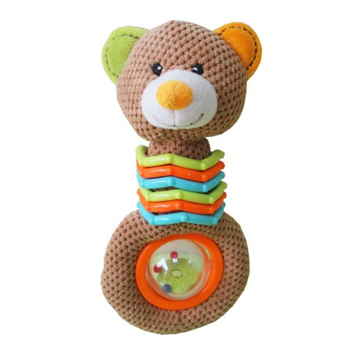 Kidiway Ring and Ball Rattle, Bear
