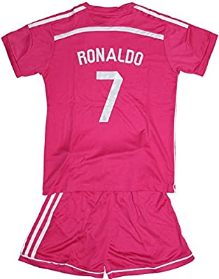 2014/2015 Cristiano Ronaldo 7 Away Real Madrid Football Soccer Kids Jersey & Short (10-11 YEARS)