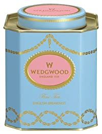 Wedgwood Everyday Luxury English Breakfast Caddy, 140g, Blue