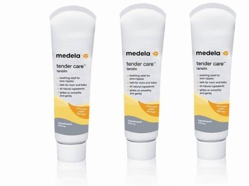 Medela Tender Care Lanolin Soothing relief for sore nipples - 0.3 oz (Pack of 3 Tube) - 1