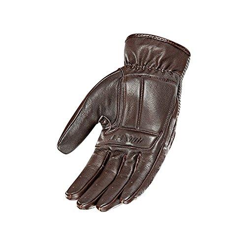 Joe Rocket Cafe Racer Mens Street Motorcycle Leather Gloves - Brown / Large 1