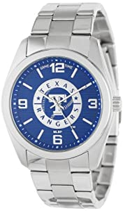 Game Time Unisex MLB-ELI-TEX Elite Texas Rangers 3-Hand Analog Watch by Game Time