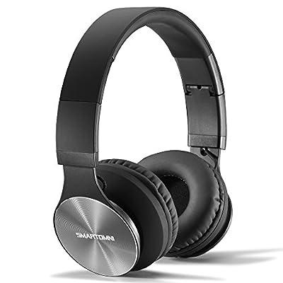 SmartOmni Bluetooth Headset Headphones 4.1 Powerful Bass Stereo Retractable Earphones with Mic