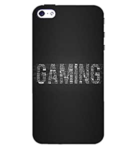 PrintDhaba GAMING QUOTE D-6541 Back Case Cover for APPLE IPHONE 4S (Multi-Coloured)