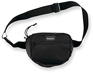 Bulldog Cases Black Fanny Pack with Black Trim (Small)