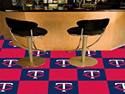 "Minnesota Twins 18""x18"" tiles Carpet Tiles Set of 20 Carpet Tiles"