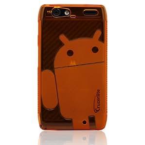 Orange - Cruzer Lite Androidified A2 High Gloss TPU Soft Gel Skin Case - For DROID RAZR MAXX [Cruzer Lite Retail Packaging]