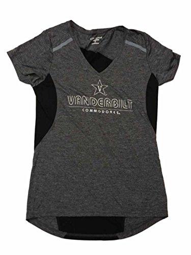 Vanderbilt Commodores Champion PowerTrain Gray SS V-Neck Performance T-Shirt (M)