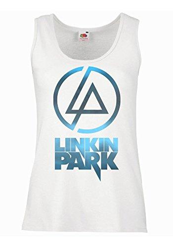 "Canotta Donna ""Linkin Park - Sky Texture"" - 100% cotone LaMAGLIERIA, XL, Bianco"