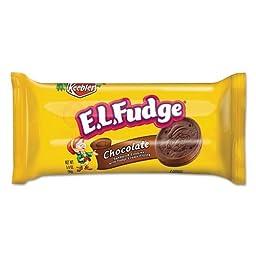 Keebler E.L. Fudge Chocolate Cookie w/Fudge Cream Mini Cookie Snack Packs