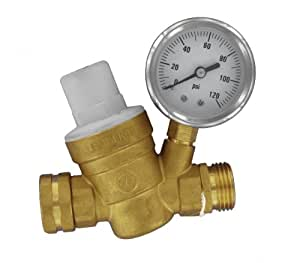 Valterra A01-1117VP Brass Lead-Free Adjustable Water Regulator
