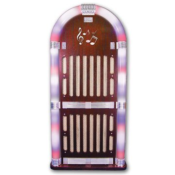 Craig Cht935Bt Jukebox Speaker System With Color Changing Lights And Bluetooth Wireless Technology