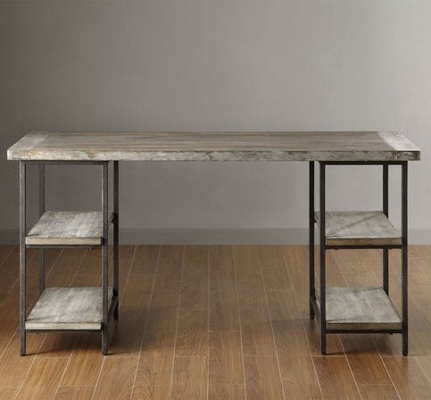 Renate Contemporary Wood-Metal Home Office Table Modern Computer