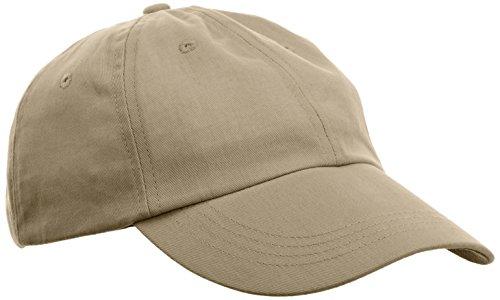Anvil Unisex Low-Profile Brushed Twill Cap, Khaki, One Size