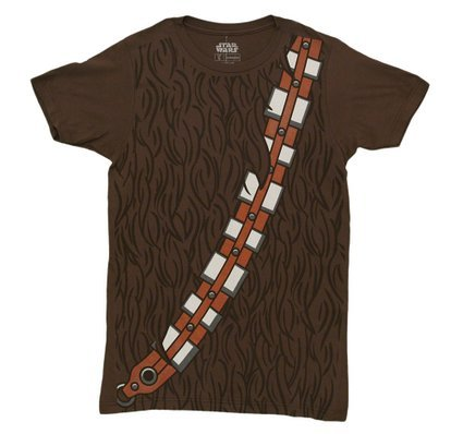 Star Wars I am Chewbacca Costume Adult Brown T-Shirt (Adult XXX-Large)