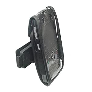 Technocel Fitted Leather Case for Motorola Slvr - Black