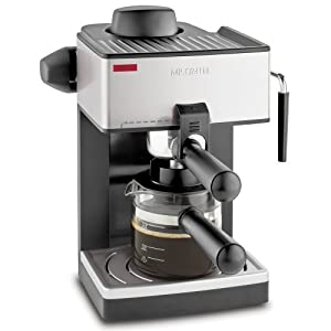 Mr. Coffee ECM160 4-Cup Steam Espresso Machine, Black, 2 Espresso Machines by Mr. Coffee