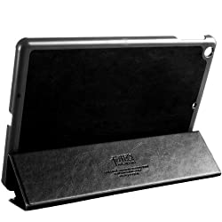 KLD Oscar Series Leather flip cover case Stand for Apple iPad Air (Black) with auto wake sleep feature.