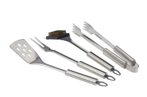 Grillfinity 140100 Premium 4-Piece Grilling Tool Set